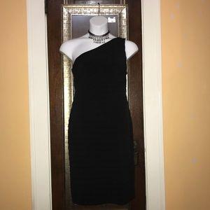 Sexy black cocktail dress